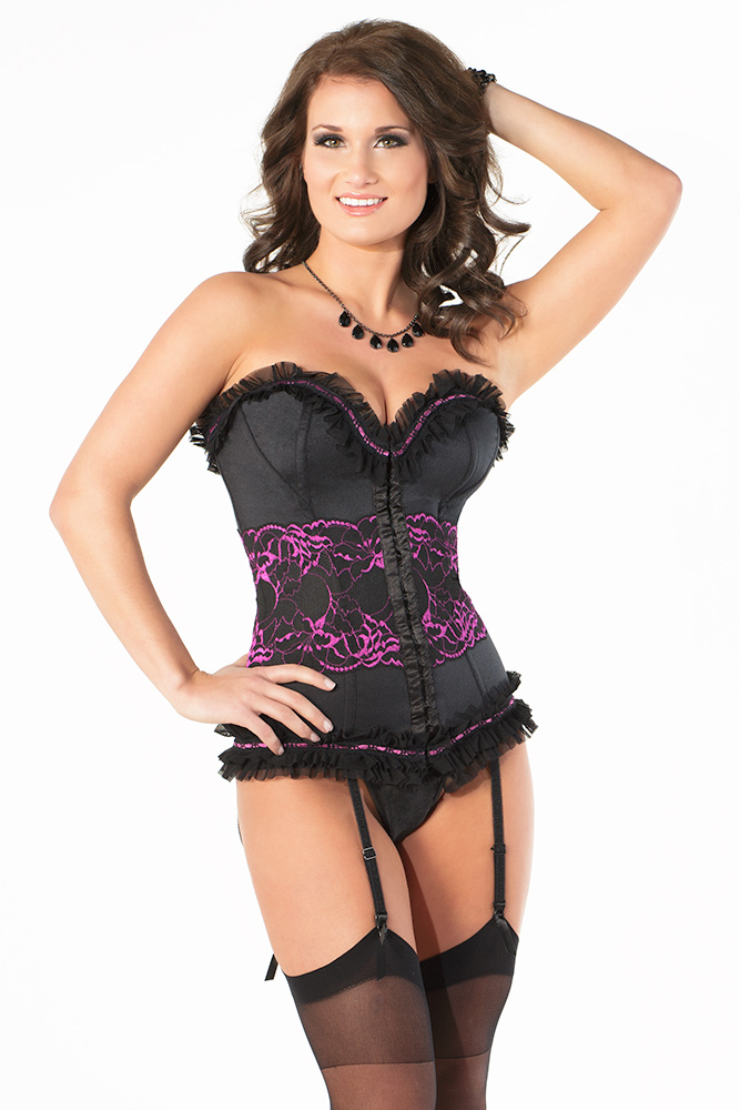 Purple Lace Detail Corset