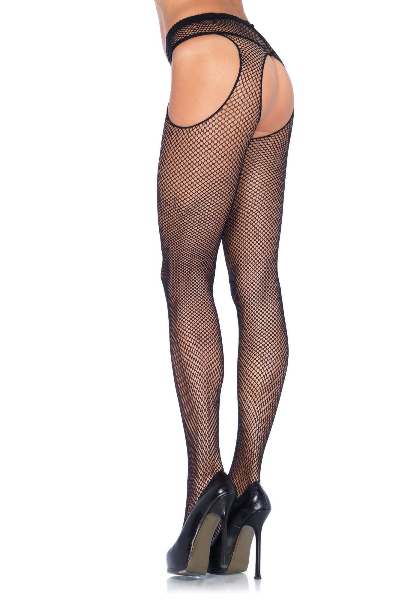 Fishnet Suspender Tights