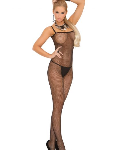 Criss Cross Back Fishnet Bodystocking