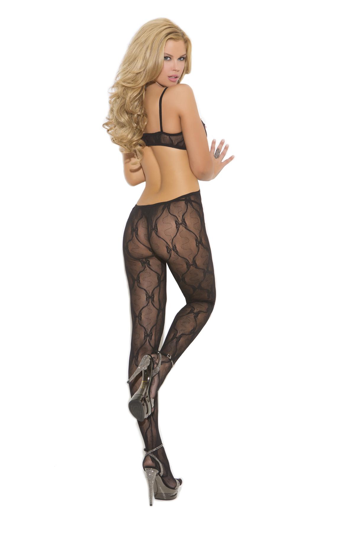Bow Tie Lace Bodystocking Plus Size