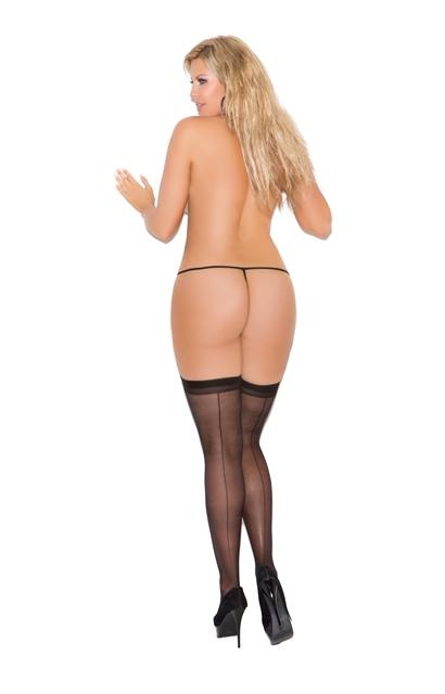 Back Seam Sheer Stockings Plus Size