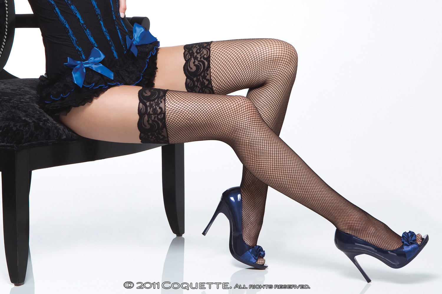 Fishnet Stockings W/Lace Top