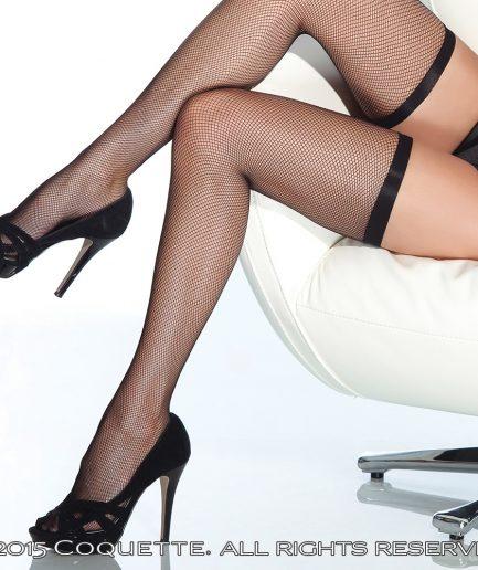 Elastic Top Fishnet Stockings