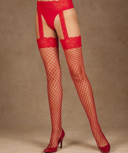 Diamond Net Garterbelt Tights