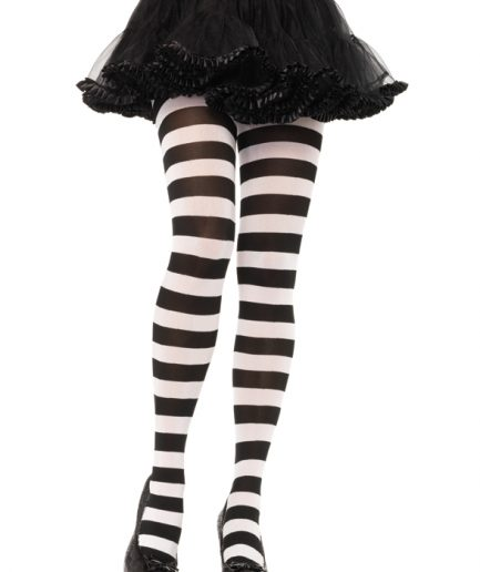 White Striped Tights
