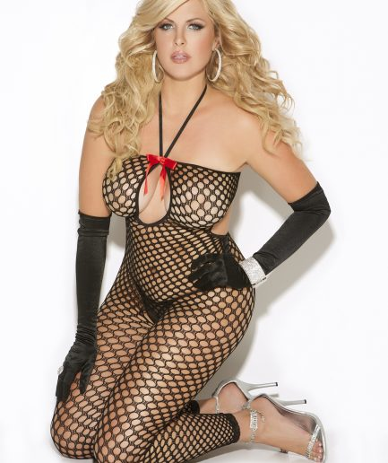Crochet Footless Bodystocking Plus Size