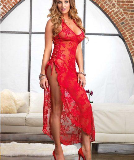 Spanish Rose Lace Long Dress