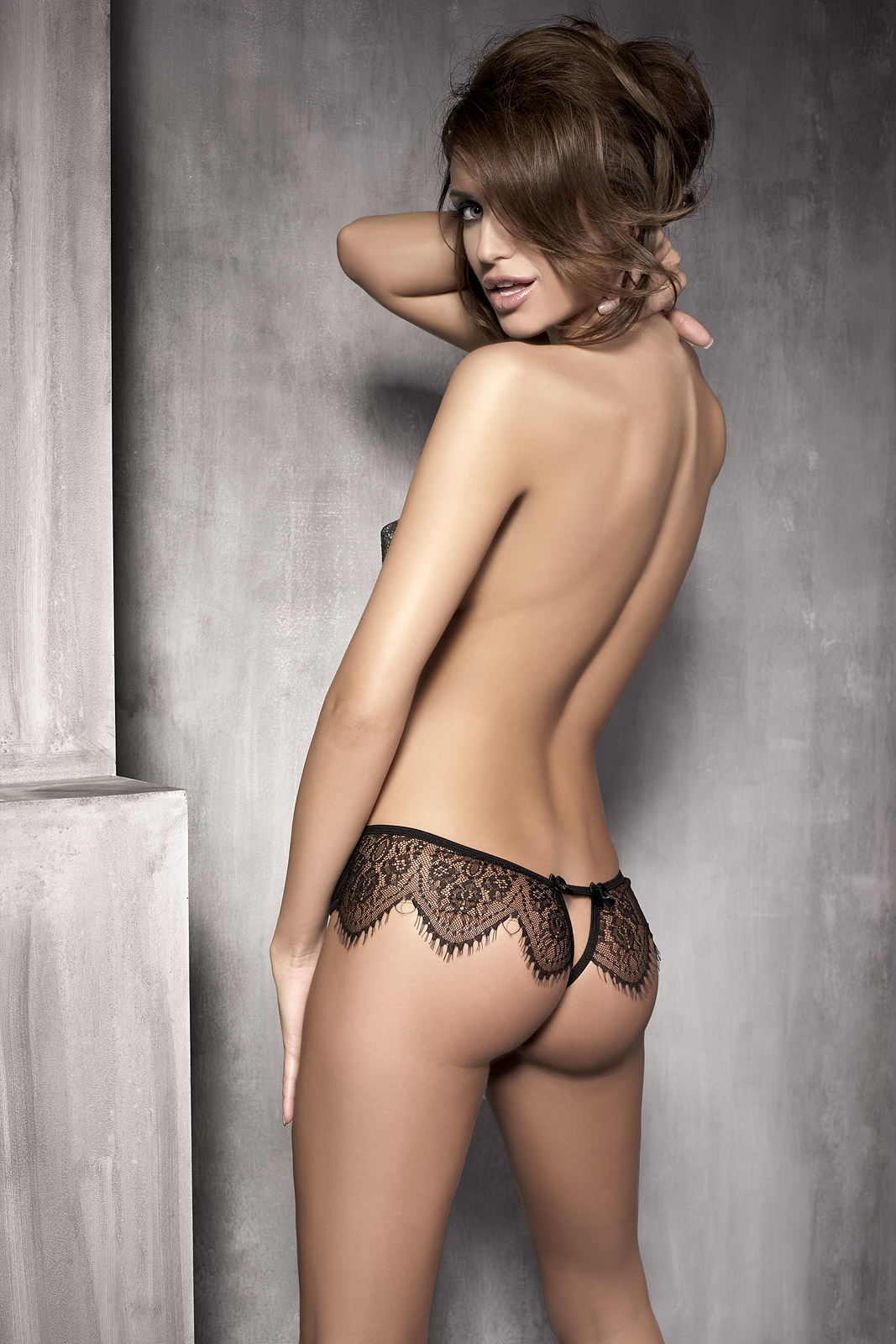 Lace Open Back Panty