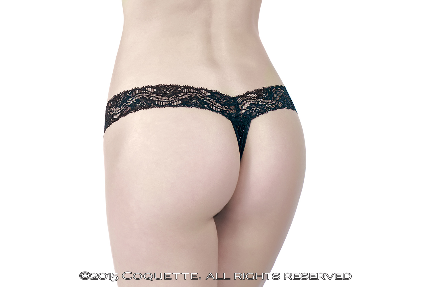 Wetlook Crotchless Thong