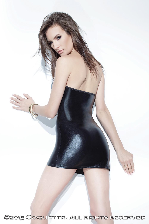 Wet Look Tube Dress