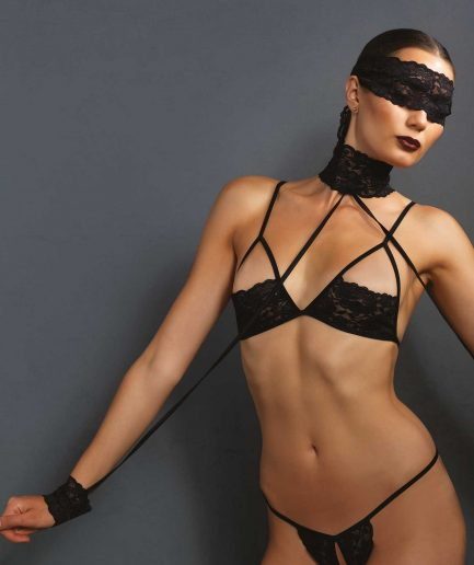 4 PC Bondage Lingerie Set